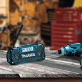 Makita RM02 12V max CXT Cordless Lithium-Ion Compact Job Site Radio (Tool Only) image number 10