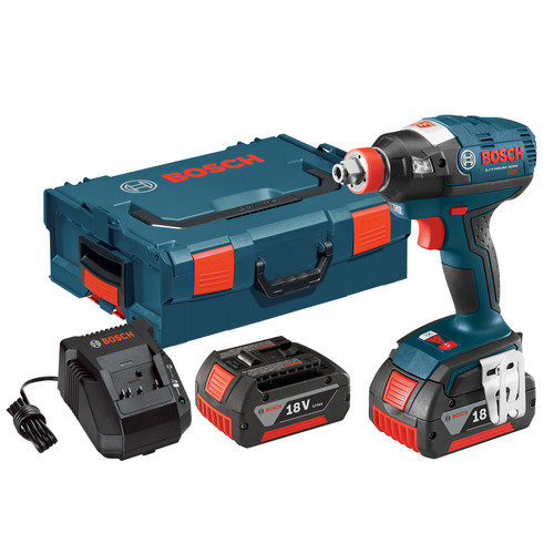 Bosch IDH182-01L 18V Cordless Lithium-Ion Brushless Socket Ready Impact Driver Kit with L-BOXX 2 Case