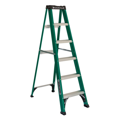Louisville FS4006 6 ft. Type II 225 lbs. Load Capacity Fiberglass Step Ladder image number 0