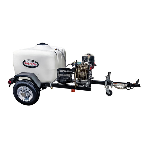 Simpson 95001 Trailer 3800 PSI 3.5 GPM Cold Water Mobile Washing System Powered by HONDA image number 0
