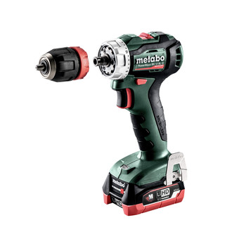 Metabo 601039520 12V PowerMaxx BS 12 BL Q LiHD Brushless Compact 3/8 in. Cordless Drill Driver Kit (4 Ah) image number 1