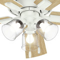 Hunter 54207 52 in. Crestfield Fresh White Ceiling Fan with Light image number 9