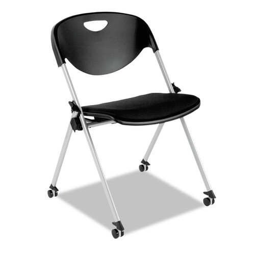 Alera ALESL651 SL Series Nesting Stack Chair with Casters (Black-2/Carton)
