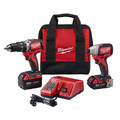 Milwaukee 2799-22CX M18 Li-Ion Compact Brushless Hammer Drill and Impact Combo Kit