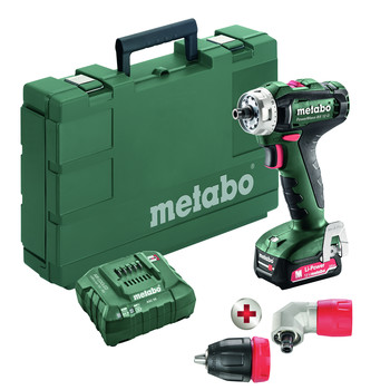Metabo 601037620 BS 12 Quick 12V Lithium-Ion 3/8 in. Cordless Drill Driver Kit (2 Ah)