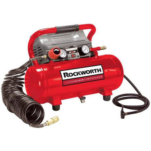 Factory Reconditioned Rockworth RW2G110DPNG 2 Gallon Oil-Free Hot Dog Air Compressor