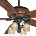 Casablanca 55051 60 in. Heathridge Aged Steel Ceiling Fan with Light and Remote image number 5