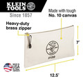 Klein Tools 5139 Canvas Zipper Bag image number 3
