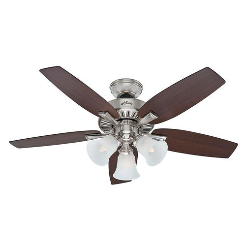 Factory Reconditioned Hunter CC52115 46 in. Brushed Nickel Indoor Ceiling Fan