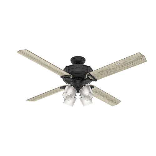 Hunter 54179 Wi-Fi Enabled HomeKit Compatible 60 in. Brunswick Natural Iron Ceiling Fan with Light and Integrated Control System-Handheld image number 0