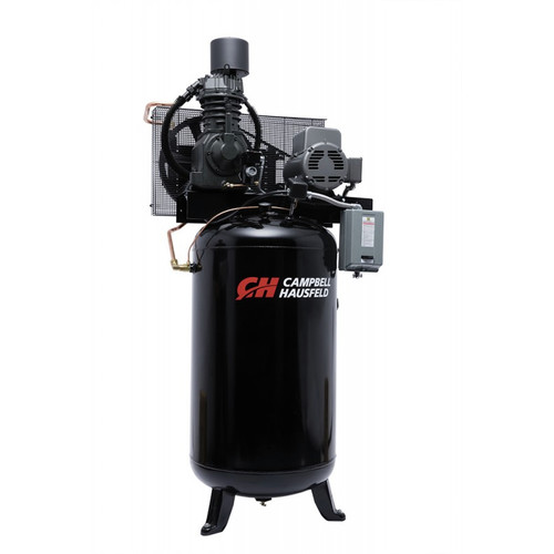 Campbell Hausfeld CE7000FP 7.5 HP Two-Stage 80 Gallon Oil-Lube Fully Packaged Stationary Vertical Air Compressor