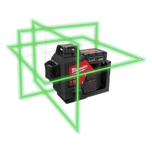 Milwaukee 3632-21 M12 360-Degree 3-Plane Cordless Laser Kit - Green (4 Ah) image number 0