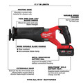 Milwaukee 2998-23 M18 FUEL Brushless Lithium-Ion Cordless 3-Tool Combo Kit (5 Ah) image number 15