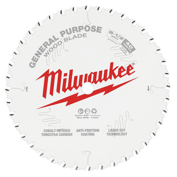 Milwaukee 48-40-0824 8-1/2 in. 40T General Purpose Circular Saw Blade image number 0