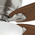 Casablanca 54101 Durant 54 in. Transitional Brushed Nickel Walnut Indoor Ceiling Fan image number 4