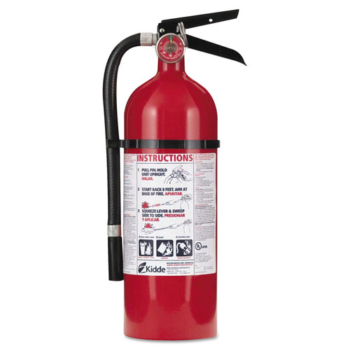 Kidde PRO 210 4 lbs. 2A:10-B:C Rated Rechargeable Fire Extinguisher image number 0