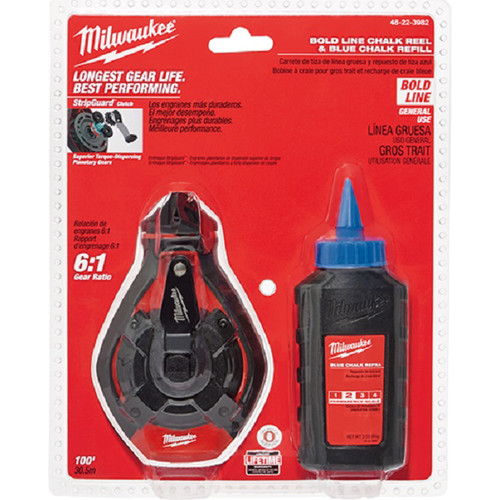 Milwaukee 48-22-3982 100 ft. Bold Line Kit with Blue Chalk