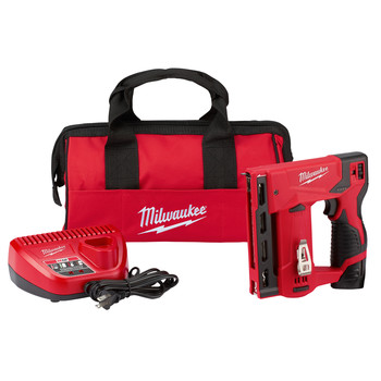 Milwaukee 2447-21 M12 3/8 in. Crown Stapler Kit