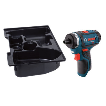 Bosch PS21BN 12V Max Lithium-Ion 2-Speed 1/4 in. Cordless Pocket Driver with Exact-Fit Tool Insert Tray (Tool Only) image number 1