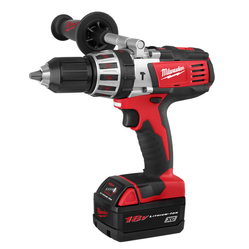 Factory Reconditioned Milwaukee 2611-84 M18 18V Cordless Lithium-Ion High Performance Hammer Drill