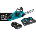 Makita XCU03PT 18V X2 LXT 5.0 Ah Brushless Chainsaw Kit