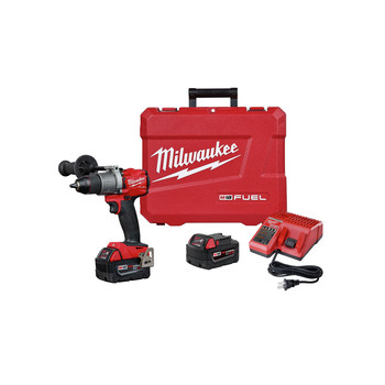 Milwaukee 2803-22 M18 FUEL Lithium-Ion 1/2 in. Cordless Drill Driver Kit (5 Ah)