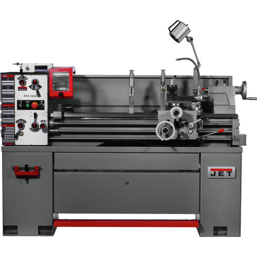 JET 311450 EVS-1440 14 x 40 in. 230/460V 3 HP 3-Phase Variable Speed Lathe with Newall DP700 DRO and Taper Attachment image number 0
