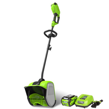 Greenworks GWSN40120 GMAX 40V Cordless Lithium-Ion 12 in. Snow Shovel Kit