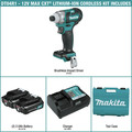 Factory Reconditioned Makita DT04R1-R CXT 12V Cordless Lithium-Ion 1/4 in. Brushless Impact Driver Kit with (2) 2 Ah Batteries image number 1