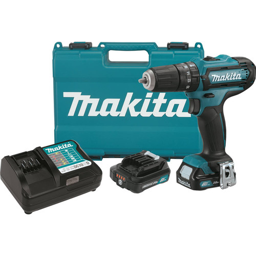 Makita PH04R1 12V MAX CXT 2.0 Ah Cordless Lithium-Ion 3/8 in. Hammer Drill Driver Kit
