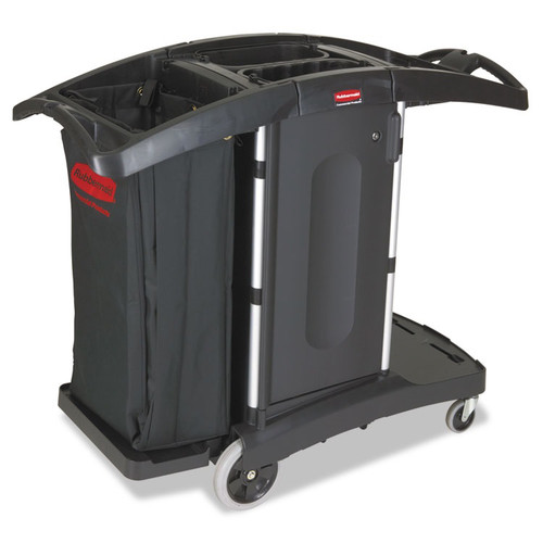 Rubbermaid 9T76 Compact Folding Housekeeping Cart (Black)