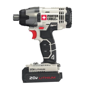 Porter-Cable PCC641LB 20V MAX 1.3 Ah Cordless Lithium-Ion 1/4 in. Hex Impact Driver Kit image number 2