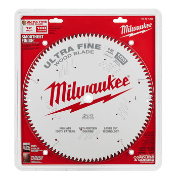 Milwaukee 48-40-1228 12 in. 100T Ultra Fine Finish Circular Saw Blade image number 1