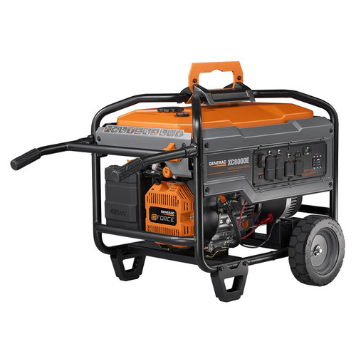 Generac 6826 8,000 Watt Gas Portable Generator with Electric Start (Non-CARB) image number 1