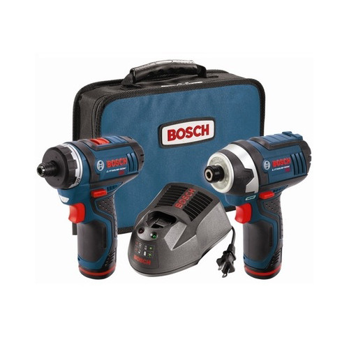 Bosch CLPK27-120 12V Max Cordless Lithium-Ion Drill Driver and Impact Driver Combo Kit