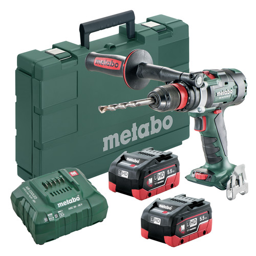 Metabo 602355620 18V LTX-3 BS 18 BL Q I LiHD 3-Speed Brushless 1/2 in. Cordless Drill Kit (5.5 Ah) image number 0