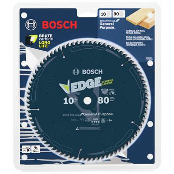 Bosch DCB1080 Daredevil 10 in. 80 Tooth Circular Saw Blade for Laminate and Melamine image number 1