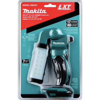 Makita DML801 LXT 18V Cordless Lithium-Ion 12 LED Flashlight (Tool Only) image number 4