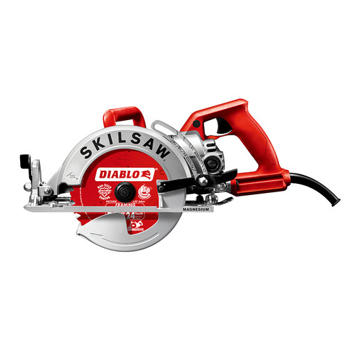 Skil SPT77WM-22 7-1/4 in. Magnesium Worm Drive Circular Saw with Diablo Carbide Blade
