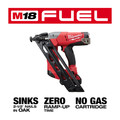 Milwaukee 2743-21CT M18 FUEL Cordless Lithium-Ion 15-Gauge Brushless Finish Nailer Kit image number 3