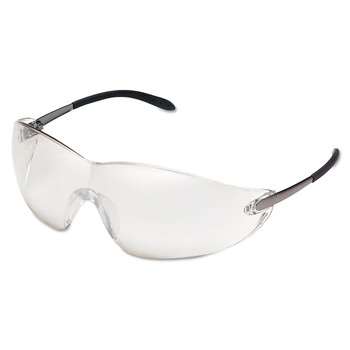 MCR Safety S2119 Blackjack Protective Eyewear, Chrome Lens, Indoor/Out, Safety Glass