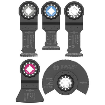 Bosch OSL005C 5-Piece Starlock Oscillating Multi-Tool Accessory Blade Set