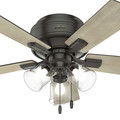 Hunter 52153 42 in. Crestfield Noble Bronze Ceiling Fan with Light image number 7