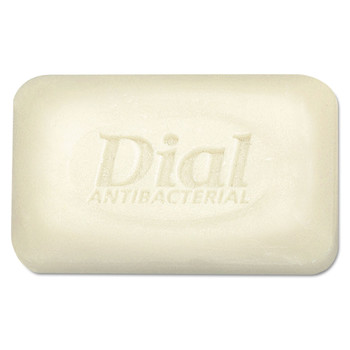 Dial 98 Antibacterial Deodorant Bar Soap, Unwrapped, White, 2.5oz, 200/carton