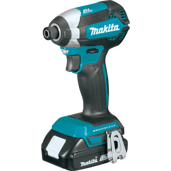 Factory Reconditioned Makita XDT13R-R 18V LXT Lithium-Ion Brushless 1/4 in. Hex Impact Driver Kit (2.0 Ah) image number 1