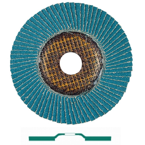 Metabo 626085000-10 7 in. ZA60 Type 27 Zirconia Alumina Trimmable Flap Discs (10-Pack)