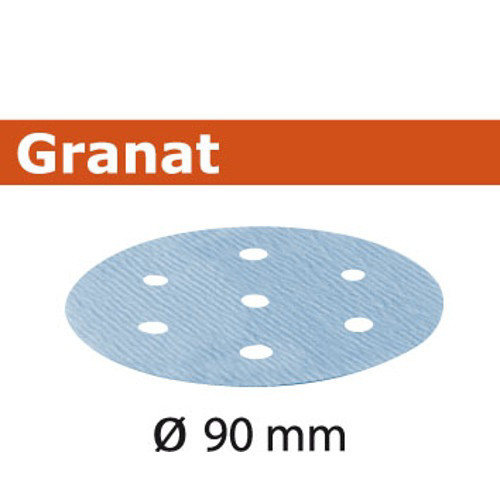 Festool 497369 3-1/2 in. P180-Grit Granat Abrasive Sheet (100-Pack)