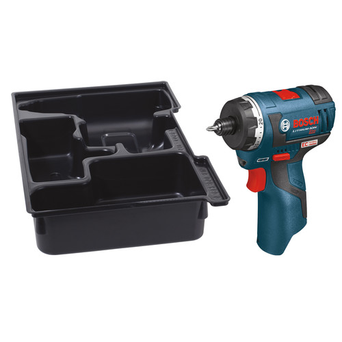 Bosch PS22BN 12V Max Lithium-Ion EC Brushless 2-Speed 1/4 in. Cordless Pocket Driver with L-BOXX Insert Tray (Tool Only) image number 0