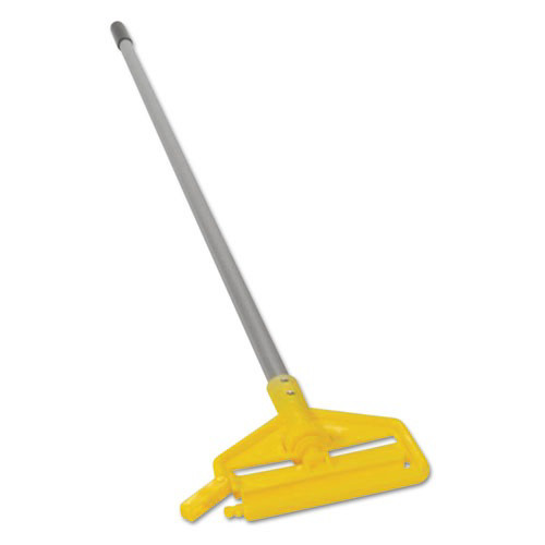 Rubbermaid H136 60 in. Invader Aluminum Side-Gate Wet-Mop Handle (Gray/Yellow)