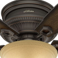 Hunter 53355 52 in. Traditional Ambrose Bengal Ceiling Fan with Light (Onyx) image number 5